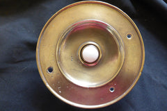 Huge Antique Brass Electric Door Bell Push - 6""