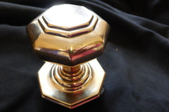 Large Antique Brass Entrance Door Center Knob Pull