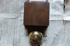 Restored Art Deco Wood & Brass Electric Doorbell - 4 - 6 volts