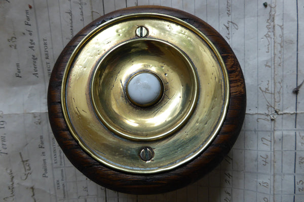 Antique Brass Amp China Electric Door Bell Push Wooden