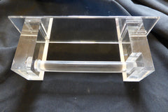 Vintage Mirrored Acrylic Toilet Roll / Paper Holder