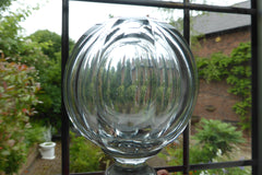Antique French Boule d'escalier - Glass & Brass Newel Post Finial