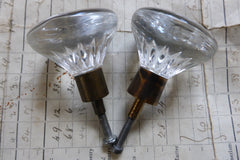 2 Vintage Lindshammar Round Glass Drawer Knobs 1970s Eames