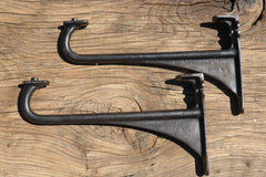 "13 1/4"" Reclaimed & Restored Industrial Cast Iron Sink Brackets"