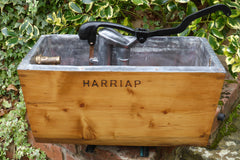 "Restored Wooden High Level Toilet Cistern - ""Harriap"""