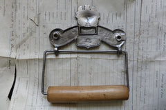 Cast Iron and Wood Antique Toilet Roll / Paper Holder