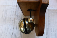 Unusual Wood & Brass Electric Sleigh Doorbell - 3-6 volts