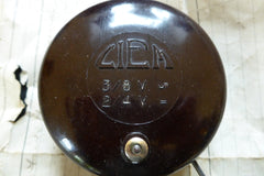 Art Deco Vintage Bakelite Round Electric Door Bell by Ciem - 6-9 volts