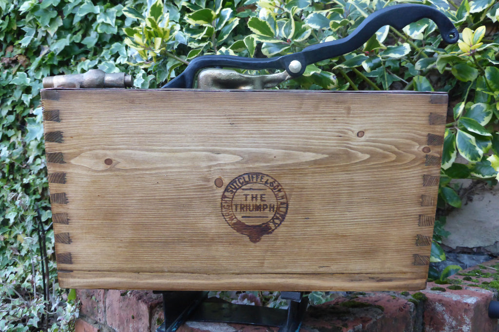 Antique Restored Wooden High Level Toilet Cistern - Medium Oak Triumph Halifax