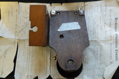Restored Art Deco Wood & Steel Electric Doorbell - 6 - 12 volts