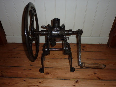 Restored Antique Victorian Cast Iron Coffee Mill Grinder by Zac Parks Birmingham