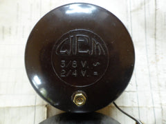 Art Deco Vintage Round Bakelite Conical Electric Door Bell by Ciem - 2-8 volts