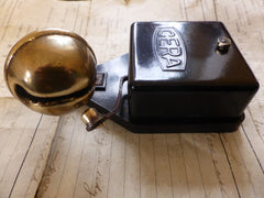 Unusual Cera BT Bakelite & Brass Electric Sleigh Doorbell + Transformer