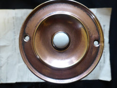 Vintage Copper Electric Door Bell Push - 3""