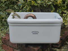 "Antique Porcelain Fireclay Ceramic ""Deano"" High Level Toilet Cistern - Liverpool"