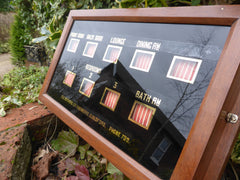 Antique Victorian 9 Room Butler's / Servant's Indicator Signal Box - Guildford