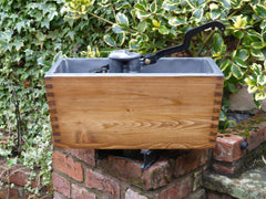 "1906 Restored Wooden High Level Toilet Cistern ""Japkap"" - Antique Pine"