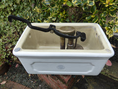"Antique Porcelain Fireclay Ceramic ""Invicta"" High Level Toilet Cistern - Musgraves Liverpool"