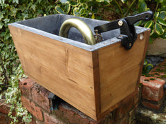 1906 Restored Wooden High Level Toilet Cistern - Brass Pipe