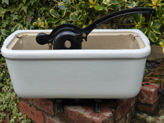 Antique Fireclay High Level Toilet Cistern with Lid - Plain