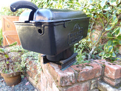 """Invicta"" - Large Reclaimed & Restored Vintage Cast Iron High Level Toilet Cistern"