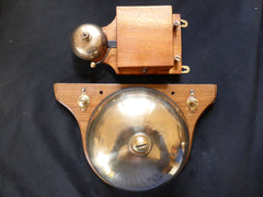 Large Unique Restored Victorian Wooden & Brass Door Bell - Self Contained Industrial