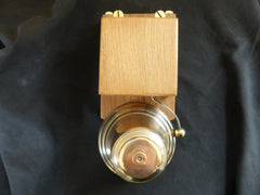 Very Large Restored Art Deco Wood & Brass Electric Doorbell - 24 volts