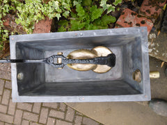 "Restored Wood & Brass High Level Toilet Cistern ""Harriap"""