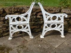 HEAVY Broxap Reclaimed Industrial Cast Iron bench ends garden - Eastgate Seat