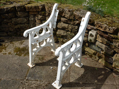 Broxap Reclaimed Industrial Cast Iron bench ends garden - Eastgate Seat
