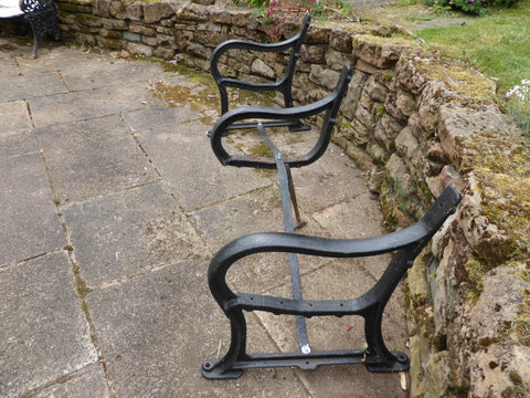 Reclaimed Industrial Cast Iron park bench ends garden seat - 4-6 Seater