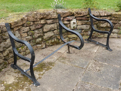 Reclaimed Industrial Cast Iron park bench ends garden seat - 6 Seater