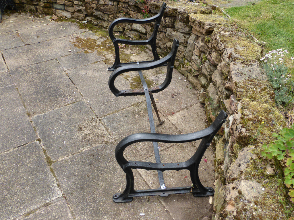 Reclaimed Industrial Cast Iron Park Bench Ends Garden Seat 4 6