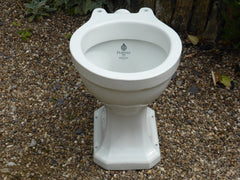 """Puritas"" Vintage 1950s Art Deco High Level Toilet - Johnson & Brothers"
