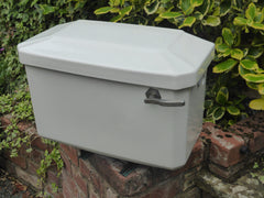 Vintage Art Deco Semi High Level Ceramic Cistern - Johnson Bros Hanley