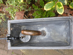 Antique Restored Wooden High Level Toilet Cistern - Triumph Halifax - 1908