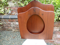 Antique Mahogany High Level Throne Toilet Seat with Lid & Brass Hinges