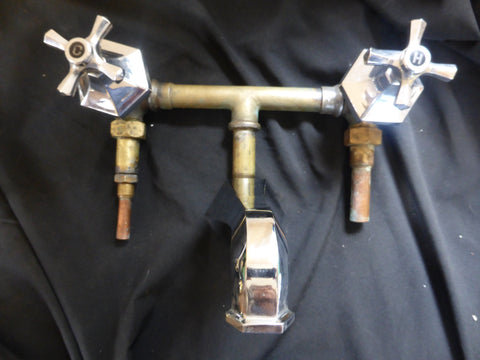 """Barwil"" Art Deco Concealed Chrome Mixer Bath Taps - Barber Wilsons"