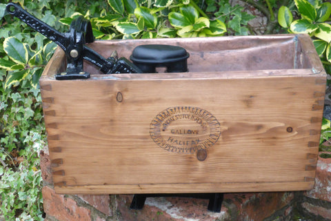 Antique Rustic Wooden High Level Toilet Cistern - Wright Sutcliffe & Son Halifax