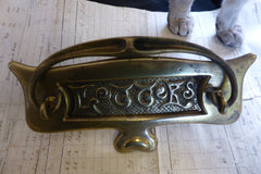 Antique Brass Letter box & Knocker