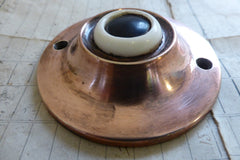 Vintage Copper Electric Door Bell Push - Friedland