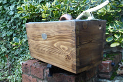 Antique Restored Japkap Wooden High Level Toilet Cistern - London Rd (Kingston Hill) Thames KT2