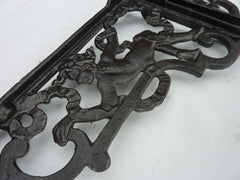 Large Cherub Cast Iron High Level Toilet Seat Brackets