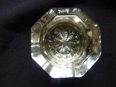 Antique Octagonal Glass & Nickel Door Knobs Circa 1900