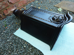 Cherub cast iron rain hopper