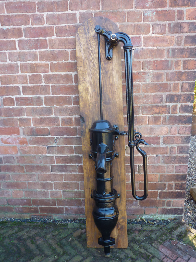 Huge Antique French Cast Iron Garden Water Hand Pump By