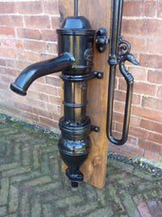 Antique French Cast Iron Garden Water Hand Pump by Alfred Corneau