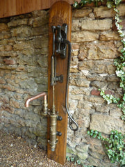 Restored Antique Cast Iron & Brass Garden Water Hand Pump by Lion (victorian)