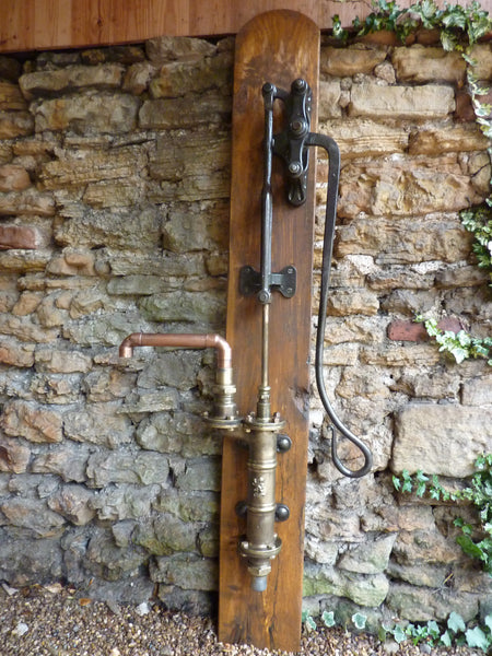 Restored Antique Cast Iron Amp Brass Garden Water Hand Pump
