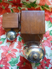 Huge Restored Victorian Brass and Wood Door Bell